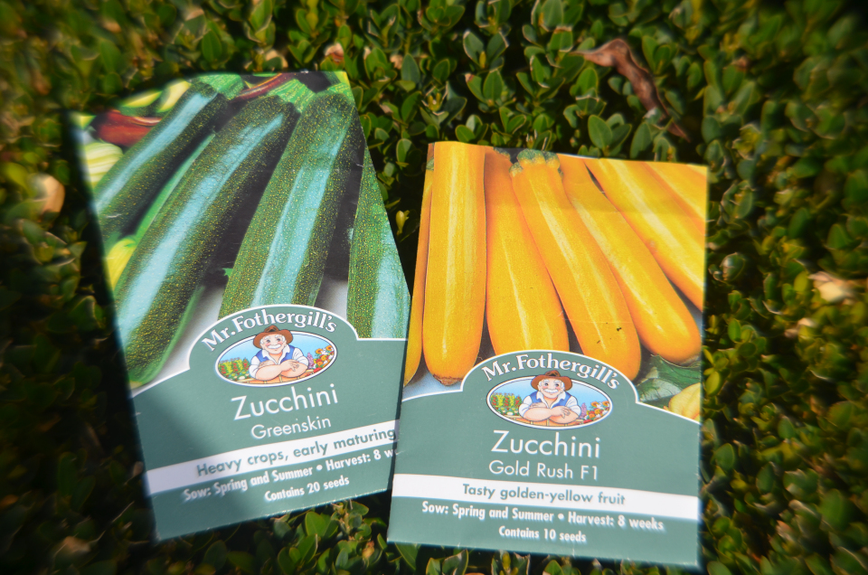 zucchini seed packet